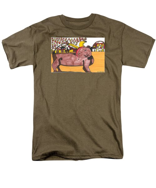 Men's T-Shirt  (Regular Fit) featuring the painting Blood Of The Bull by Don Koester