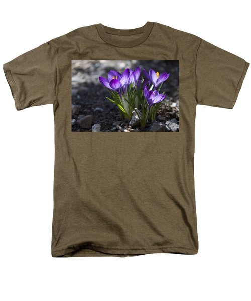 Men's T-Shirt  (Regular Fit) featuring the photograph Blooming Crocus #2 by Jeff Severson
