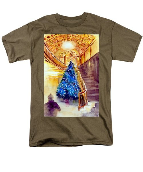 Blue And Gold 2 - Michigan Theater In Ann Arbor Men's T-Shirt  (Regular Fit) by Yoshiko Mishina