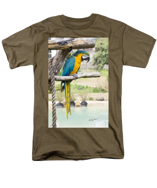 Blue And Gold Macaw Men's T-Shirt  (Regular Fit) by Ricky Dean
