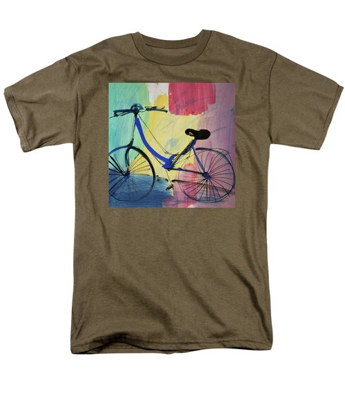 Blue Bicycle Men's T-Shirt  (Regular Fit)