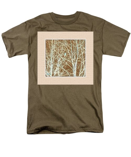 Men's T-Shirt  (Regular Fit) featuring the photograph Blue Bird In Winter Tree by Felipe Adan Lerma