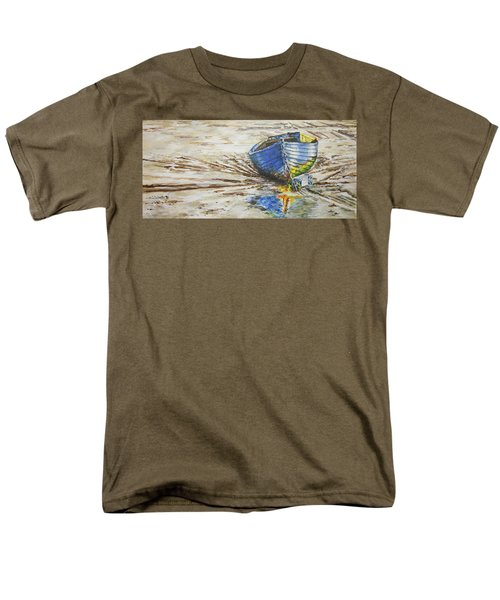 Blue Boat Men's T-Shirt  (Regular Fit) by Marty Garland