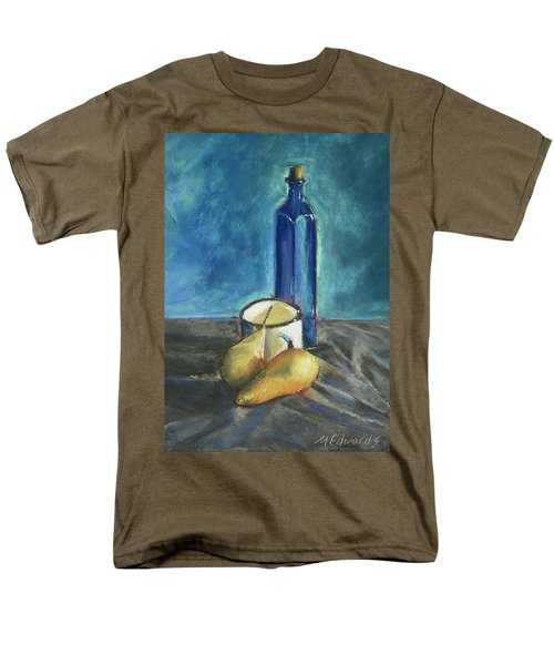 Men's T-Shirt  (Regular Fit) featuring the painting Blue Bottle And Pears by Marna Edwards Flavell