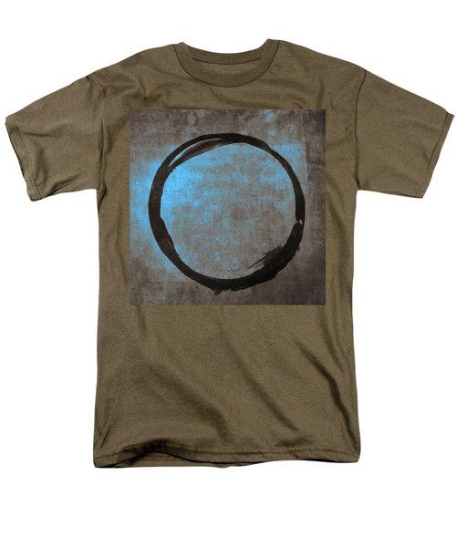 Blue Brown Enso Men's T-Shirt  (Regular Fit) by Julie Niemela