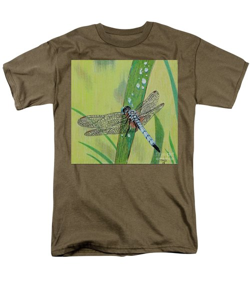 Blue Dasher Men's T-Shirt  (Regular Fit) by Terri Mills