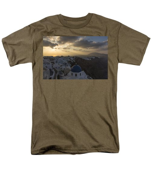 Blue Dome - Santorini Men's T-Shirt  (Regular Fit) by Kathy Adams Clark