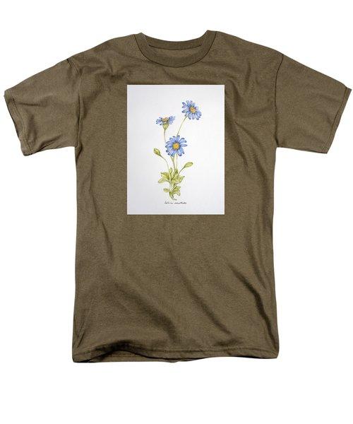 Blue Flower Men's T-Shirt  (Regular Fit)