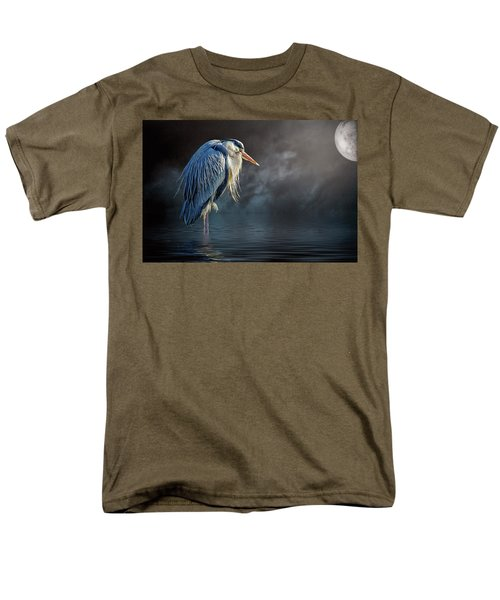 Blue Heron Moon Men's T-Shirt  (Regular Fit) by Brian Tarr