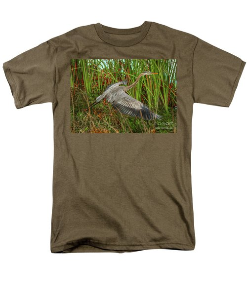 Blue Heron Take-off Men's T-Shirt  (Regular Fit) by Tom Claud