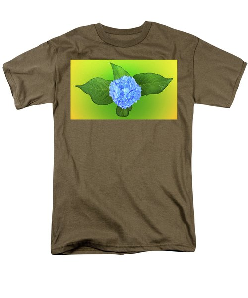 Men's T-Shirt  (Regular Fit) featuring the photograph Blue Hydrangea by Mike Breau