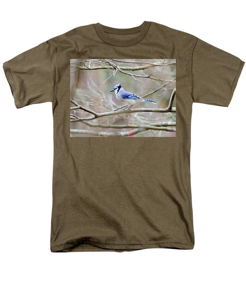 Men's T-Shirt  (Regular Fit) featuring the photograph Blue Jay by George Randy Bass