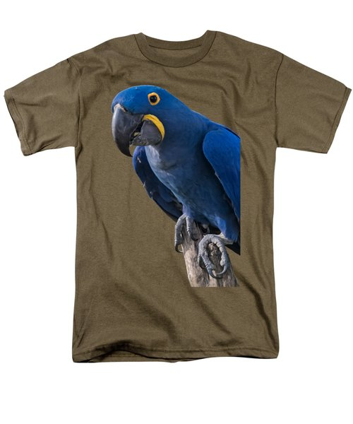 Blue Macaw Men's T-Shirt  (Regular Fit) by Mark Myhaver