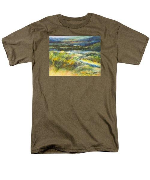 Blue Meadows Men's T-Shirt  (Regular Fit) by Glory Wood