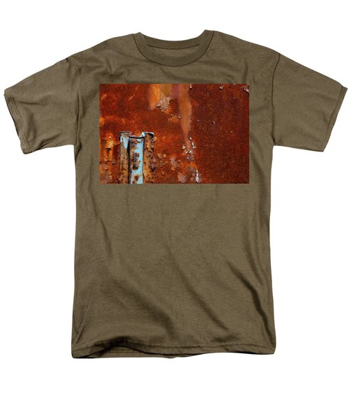Men's T-Shirt  (Regular Fit) featuring the photograph Blue On Rust by Karol Livote