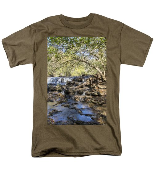 Blue Puddle Falls Men's T-Shirt  (Regular Fit) by Ricky Dean
