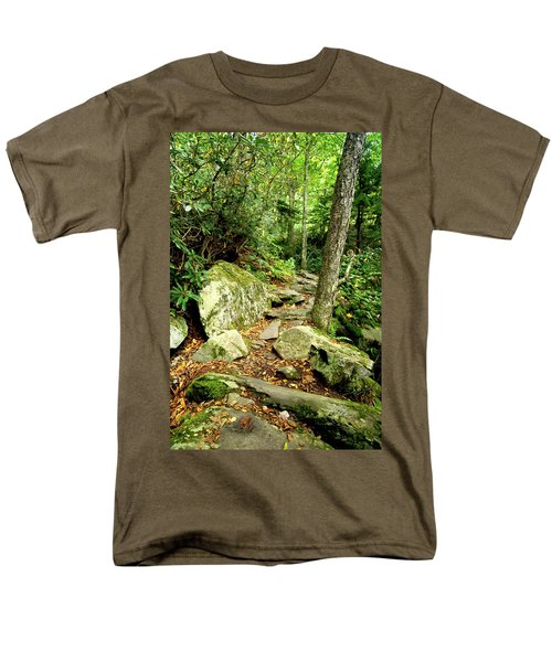 Men's T-Shirt  (Regular Fit) featuring the photograph Blue Ridge Parkway Hiking Trail by Meta Gatschenberger