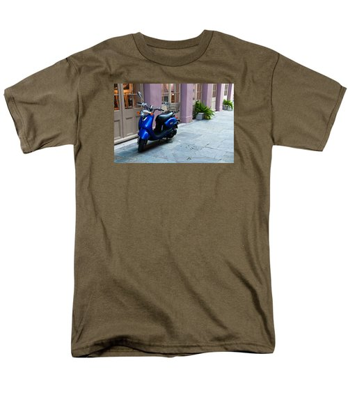 Men's T-Shirt  (Regular Fit) featuring the photograph Blue Scooter by Monte Stevens