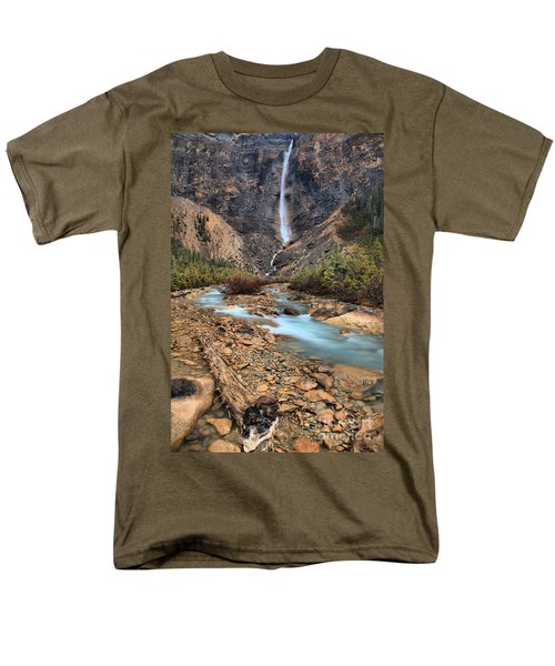 Men's T-Shirt  (Regular Fit) featuring the photograph Blueberry Blue Waters Under Takakkaw Falls by Adam Jewell