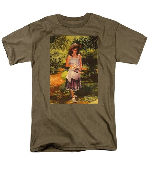 Men's T-Shirt  (Regular Fit) featuring the painting Blueberry Girl by Elizabeth Carr