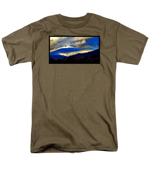 Blueray Winter New Mexico Men's T-Shirt  (Regular Fit) by Susanne Still