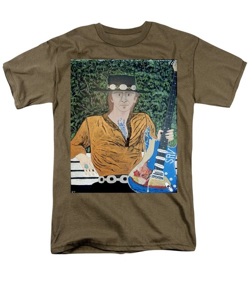 Blues In The Park With Stevie Ray Vaughan. Men's T-Shirt  (Regular Fit) by Ken Zabel