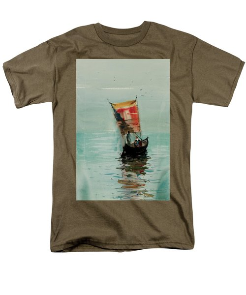 Boat Men's T-Shirt  (Regular Fit) by Helal Uddin