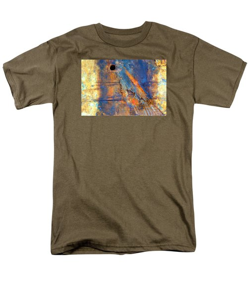 Men's T-Shirt  (Regular Fit) featuring the photograph Boatyard Abstract1 by Newel Hunter