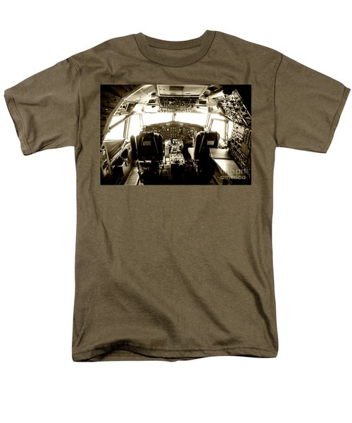 Men's T-Shirt  (Regular Fit) featuring the photograph Boeing 747 Cockpit 21 by Micah May