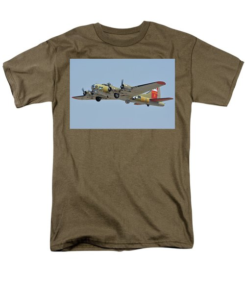 Men's T-Shirt  (Regular Fit) featuring the photograph Boeing B-17g Flying Fortress N93012 Nine-o-nine Phoenix-mesa Gateway Airport Arizona April 15, 2016 by Brian Lockett