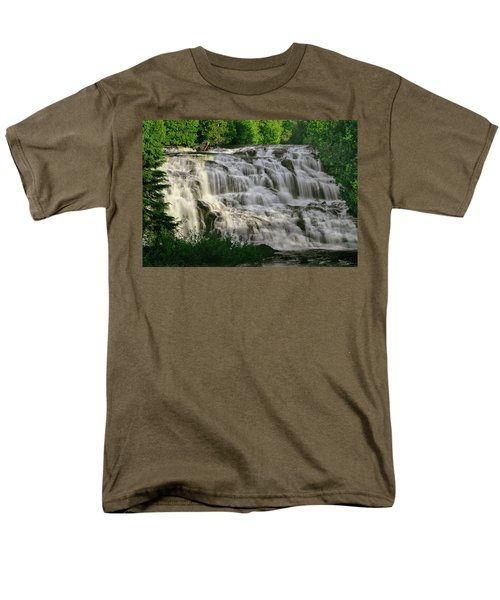 Men's T-Shirt  (Regular Fit) featuring the photograph Bond Falls - Haight - Michigan 001 by George Bostian
