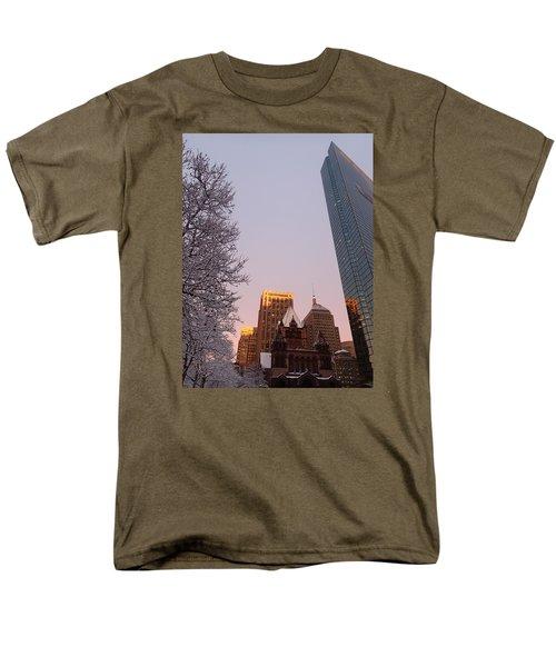 Boston 02/05/16 Men's T-Shirt  (Regular Fit) by Robert Nickologianis
