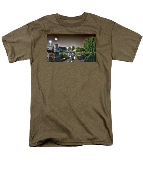 Boston Public Garden - Lagoon Bridge Men's T-Shirt  (Regular Fit)