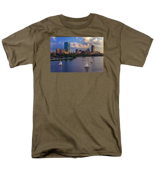 Boston Skyline Men's T-Shirt  (Regular Fit) by Rick Berk