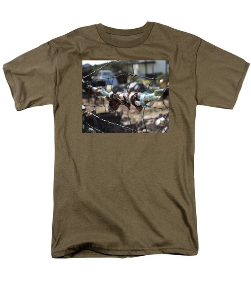Men's T-Shirt  (Regular Fit) featuring the photograph Bottle Fence by Annette Berglund