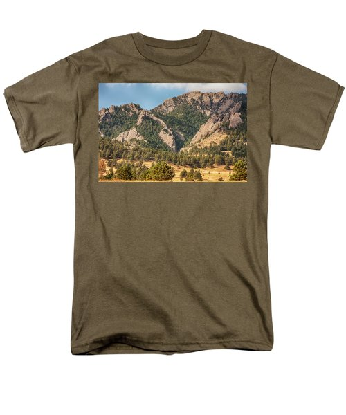 Men's T-Shirt  (Regular Fit) featuring the photograph Boulder Colorado Rocky Mountain Foothills by James BO Insogna