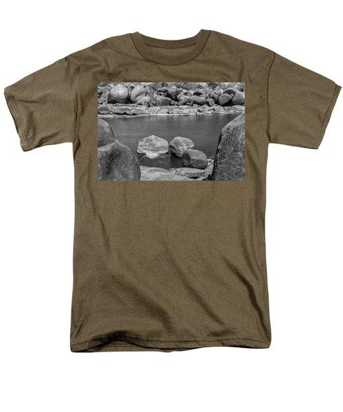 Men's T-Shirt  (Regular Fit) featuring the photograph Boulders Of Tungabhadra, Hampi, 2017 by Hitendra SINKAR