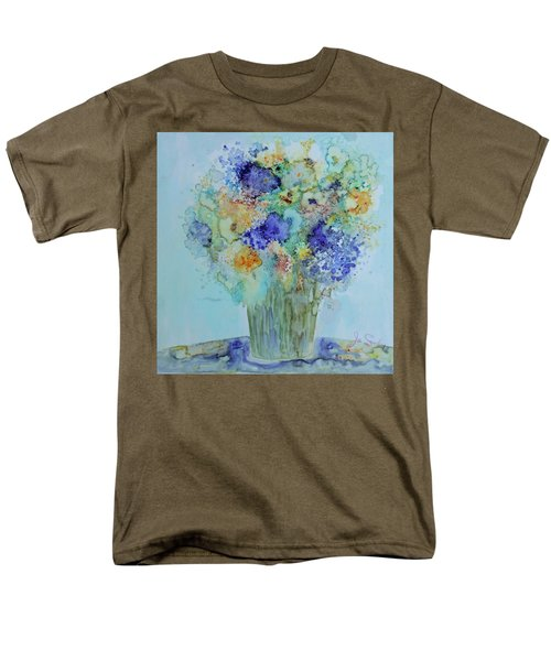 Men's T-Shirt  (Regular Fit) featuring the painting Bouquet Of Blue And Gold by Joanne Smoley