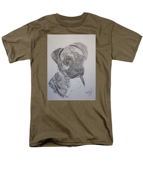 Men's T-Shirt  (Regular Fit) featuring the drawing Boxer by Marilyn Zalatan