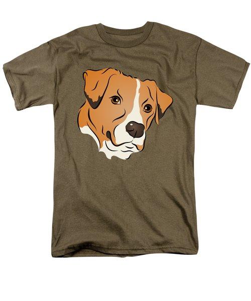 Boxer Mix Dog Graphic Portrait Men's T-Shirt  (Regular Fit) by MM Anderson