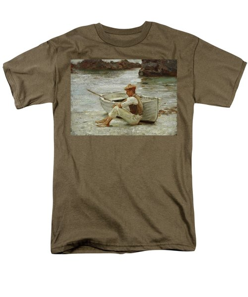 Men's T-Shirt  (Regular Fit) featuring the painting Boy And Boat  by Henry Scott Tuke