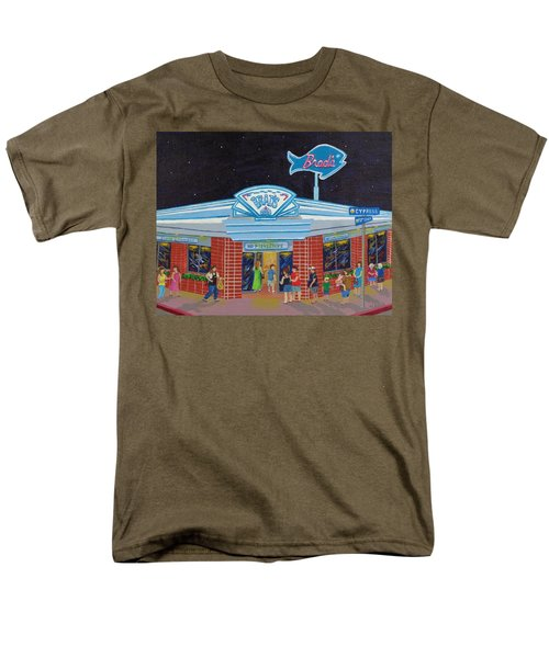 Men's T-Shirt  (Regular Fit) featuring the painting Brad's Pismo Beach California by Katherine Young-Beck