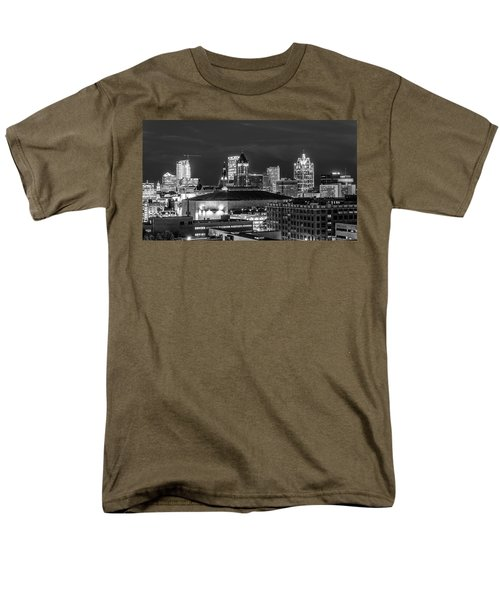 Men's T-Shirt  (Regular Fit) featuring the photograph Brew City At Night by Randy Scherkenbach