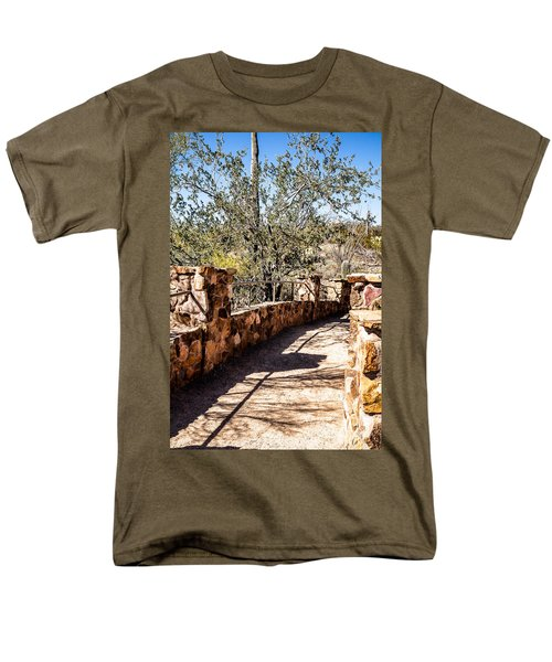 Men's T-Shirt  (Regular Fit) featuring the photograph Bridge Over Desert Wash by Lawrence Burry