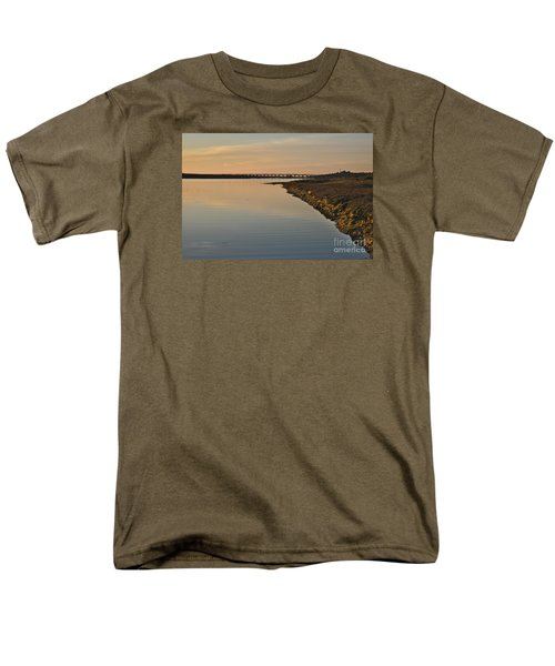 Bridge And Ria At Sunset In Quinta Do Lago Men's T-Shirt  (Regular Fit) by Angelo DeVal