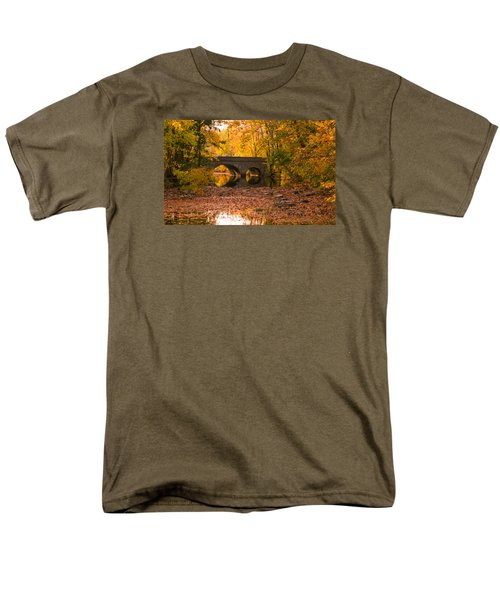 Men's T-Shirt  (Regular Fit) featuring the photograph Bridge Of Gold by Cathy Donohoue