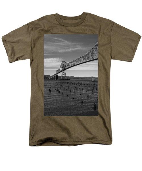 Men's T-Shirt  (Regular Fit) featuring the photograph Bridge Over Columbia by Jeff Kolker