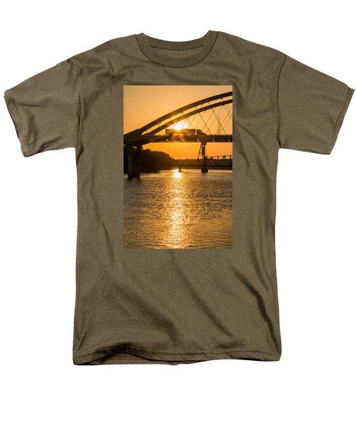 Bridge Sunrise 2 Men's T-Shirt  (Regular Fit) by Patti Deters