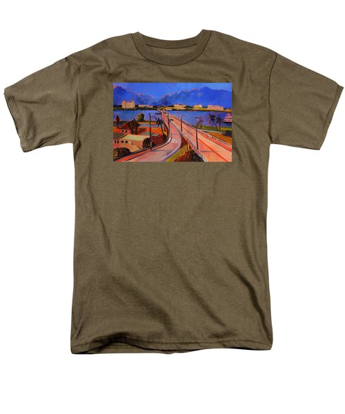 Bridge To Palm Beach Men's T-Shirt  (Regular Fit)