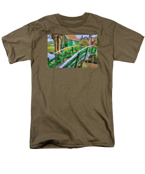 Bridge To The Village Men's T-Shirt  (Regular Fit) by Nadia Sanowar